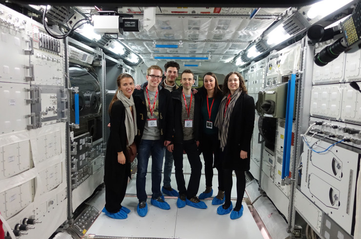 Interns and new employees on a study trip to The European Space Agency (ESA) in Leiden, Netherlands.