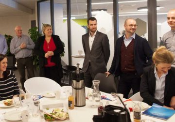 Prime minister Erna Solberg met with several startups