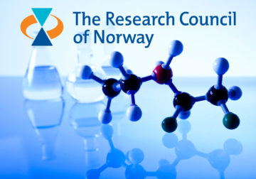 Picture of molecules and the NFR logo