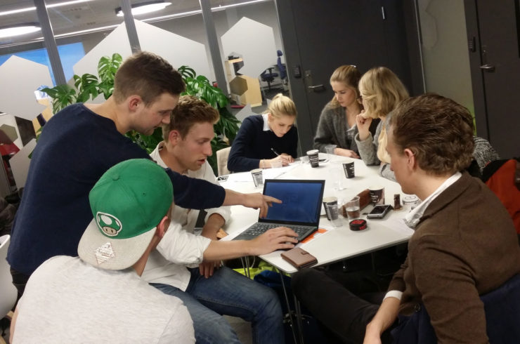 Students working at ACCEL Student