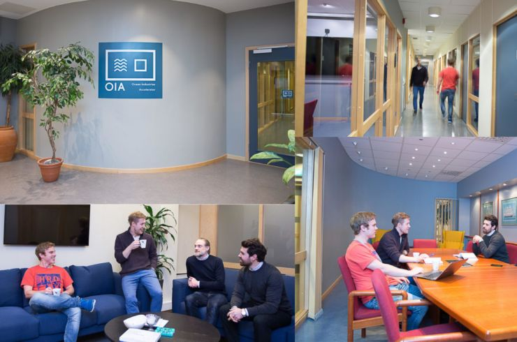 Collage with pictures from the accelerator