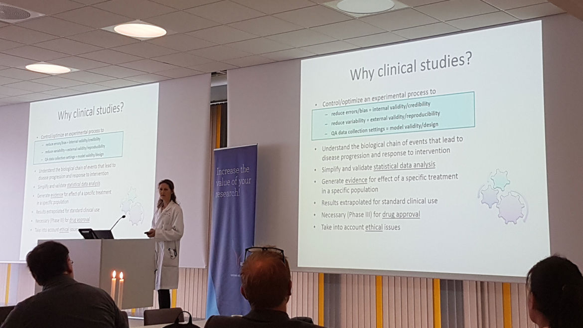 Nina L. Jebsen inspired the audience and talked about why clinical studies are important, and the very efficient and skilled Clinical Trial Units for Adults and Children at Haukeland University Hospital.