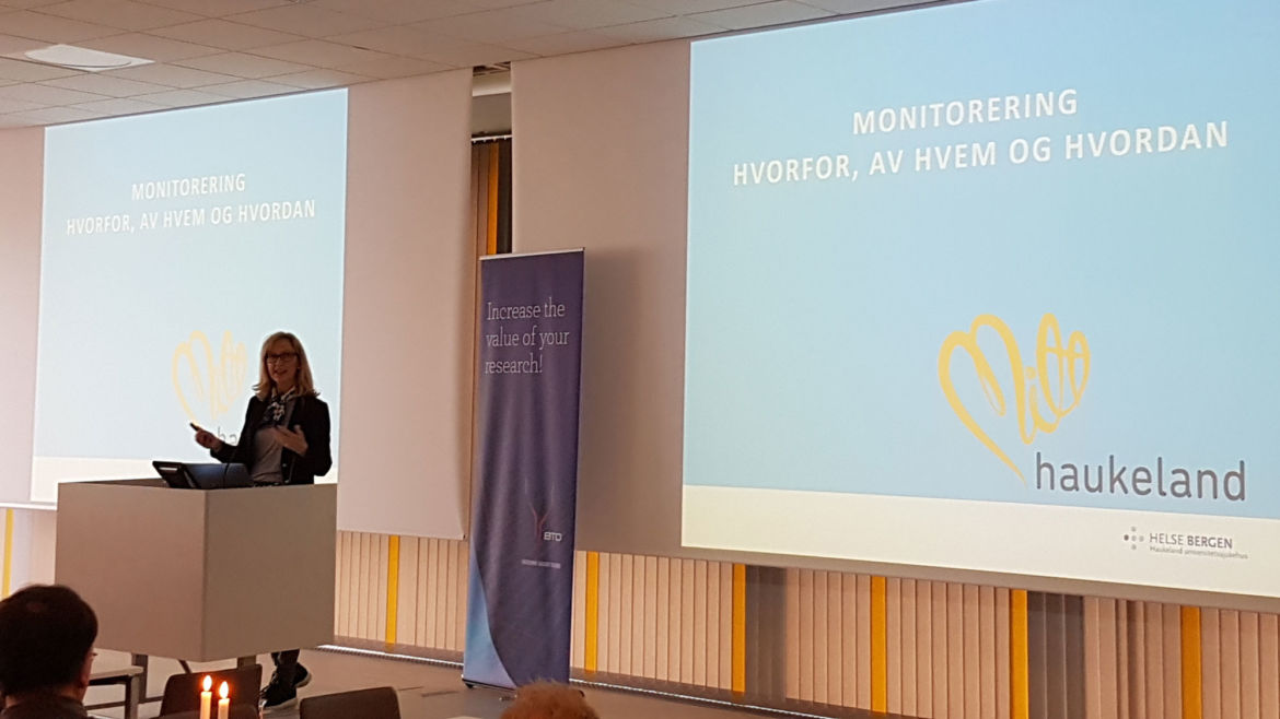 Ingunn Heie Anundskås from Helse Bergen presented why monitoring is important and how it`s done.