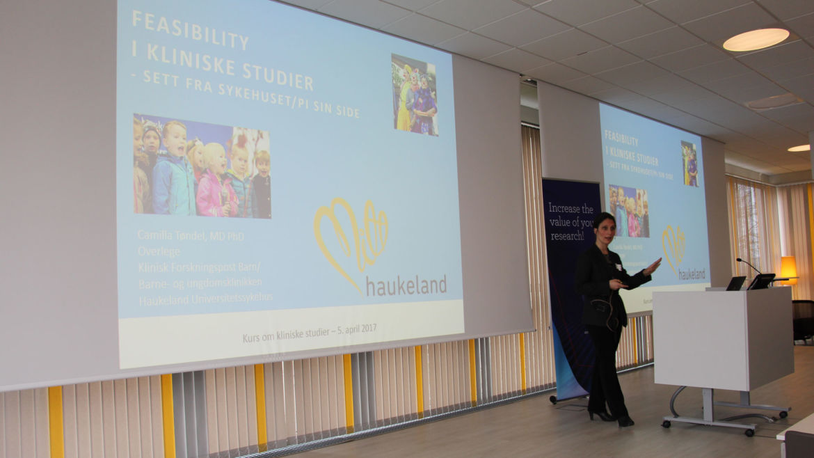 Camilla Tøndel from Helse Bergen talked about clinical studies from the hospital point of view.