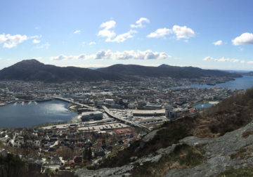 Bergen seen from the mountain.