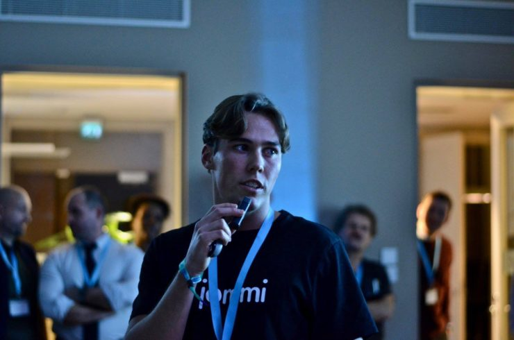 Henrik Johannessen, 22 year old studentl, and the entrepreneur behind Tjommi.
